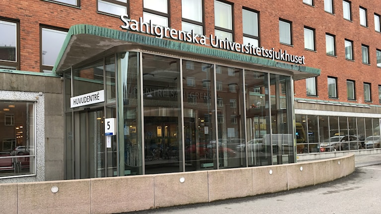 Entré till Sahlgrenska.