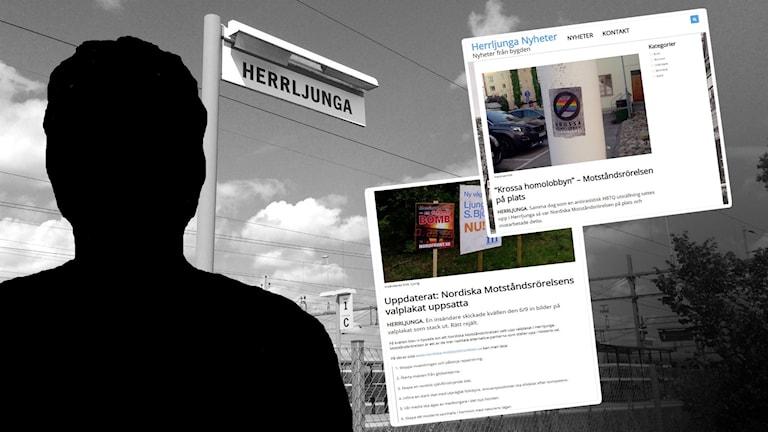 Skärmdumpar från Herrljunganyheter.
