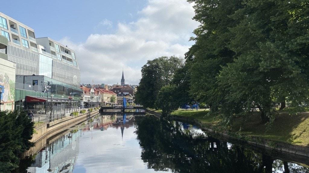 Viskan som rinner igenom Borås Stadspark