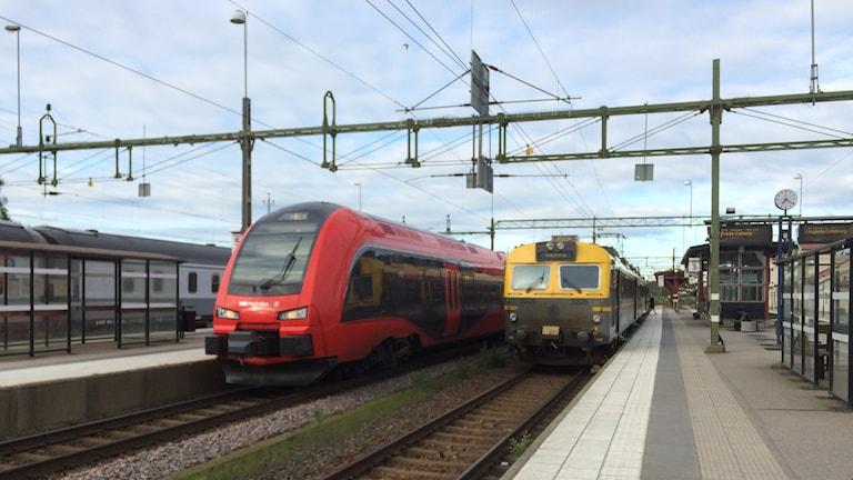 Tåg, station, Herrljunga