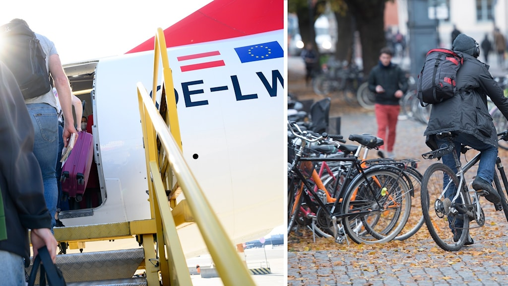 Flygplan och cykelparkering