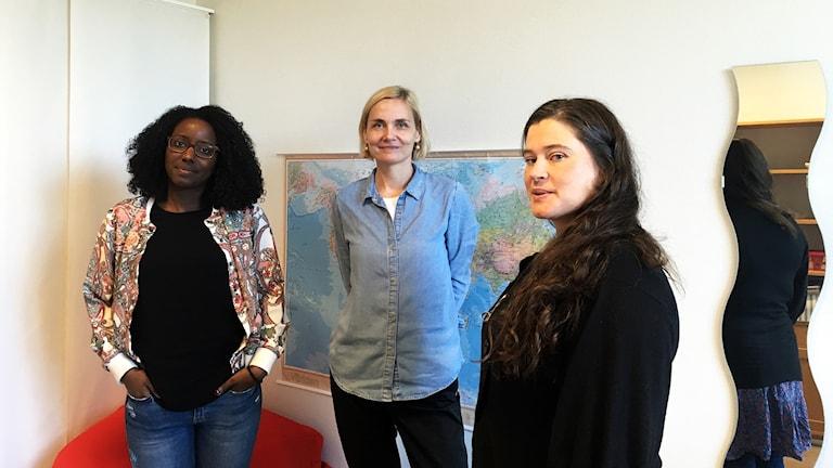 Andrea Ramosdacruz, Katrin Sepp och Unn Tamber jobbar på BUP Asylmottagning i Borås.