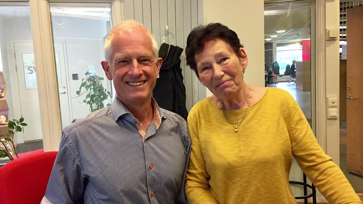 Jerker Isaksson, chefläkare på SÄS och Rose-Marie Liljenby Andersson.