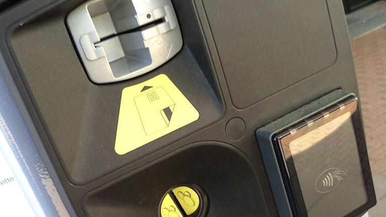 Parkeringsautomat  detalj