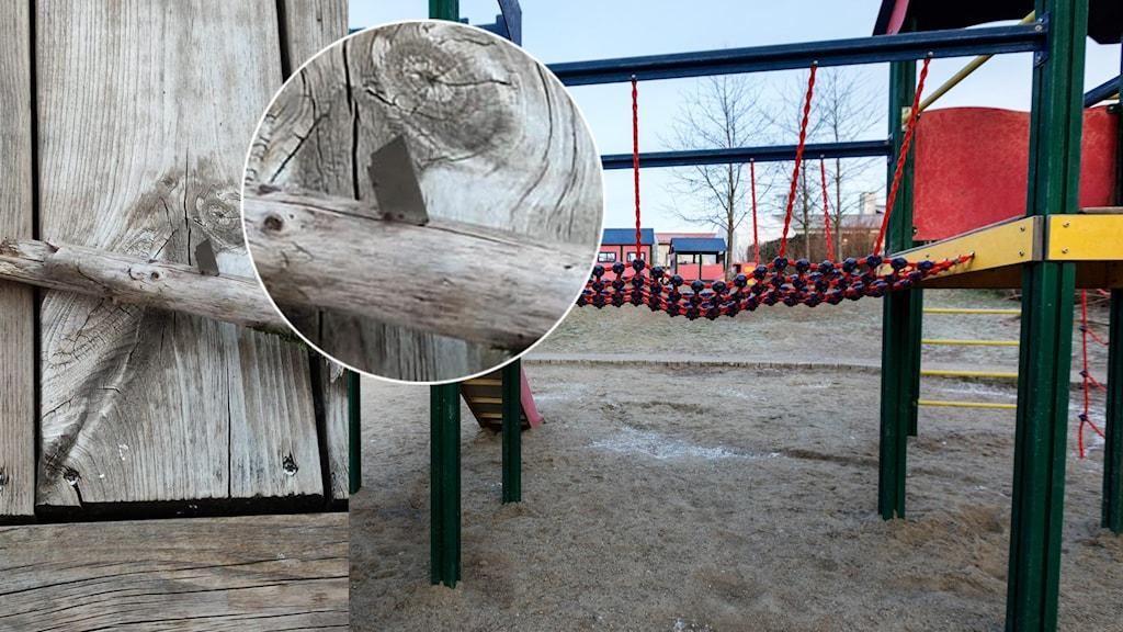 Rakblad hittades på lekplats