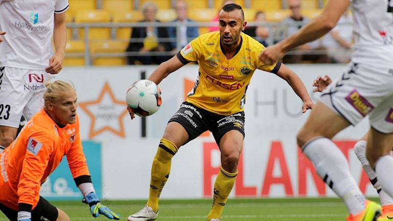 Elfsborgs Issam Jebali under förra säsongens hemmamöte med Kalmar.