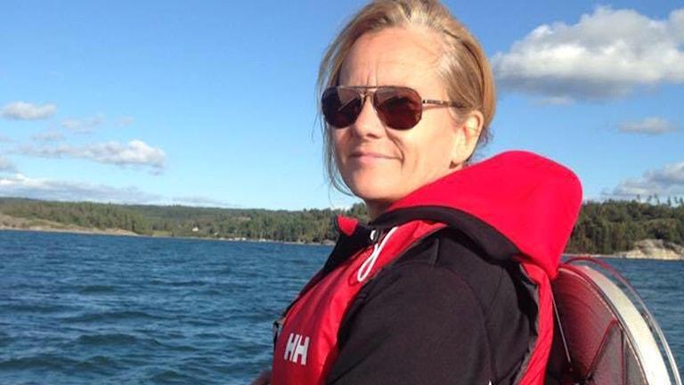 Marie-Louise Weise började segla för två och ett halvt år sedan och siktar på ensamsegling på de sju haven.