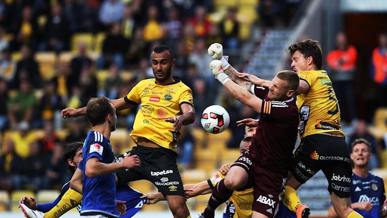 Elfsborgs målvakt Tommy Naurin förhindrade mål under måndagens match mot GIF Sundsvall