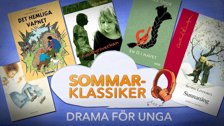 Bokomslag till sommarklassiker i Sveriges radio