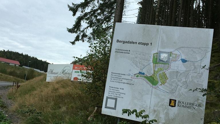 Översiktskarta Bergadalen, Bollebygd.