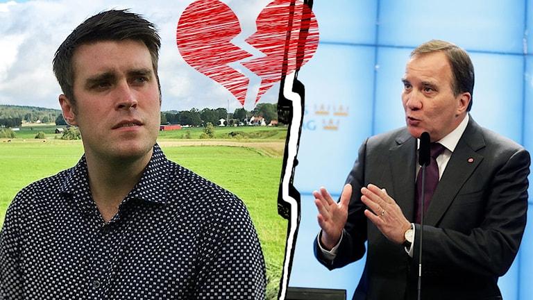 Mikael Larsson (C) Stefan Löfven (S)