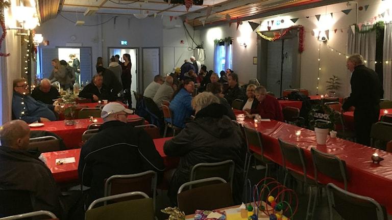 Gemensam jul i Hemgården under juldagen. Foto: Eric Porali.