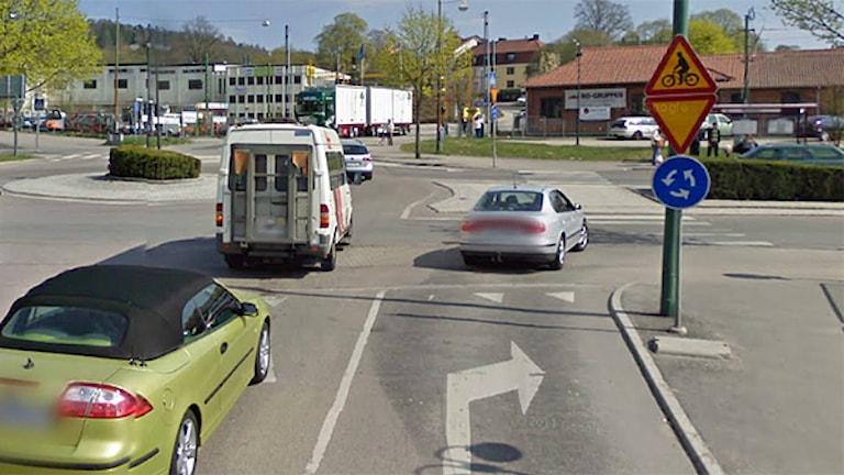 Rondellen vid Knalleland och ICA Maxi.