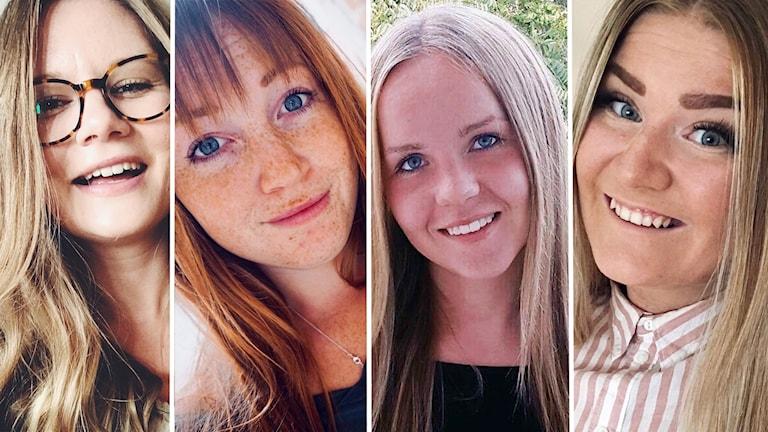 De fyra kvinnorna bakom instagramkontot Studentproviant.