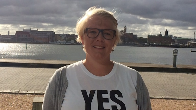 Frida Persson i t-shirt.