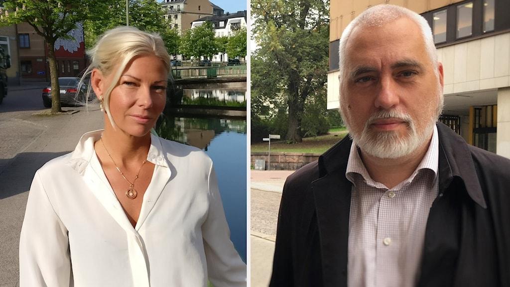 Caroline Nordengrip (Sd) och Petter Löberg (S).