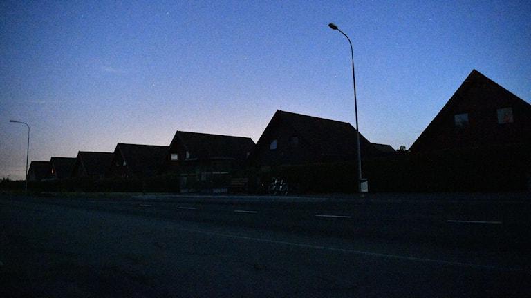 Nedsläckta hus