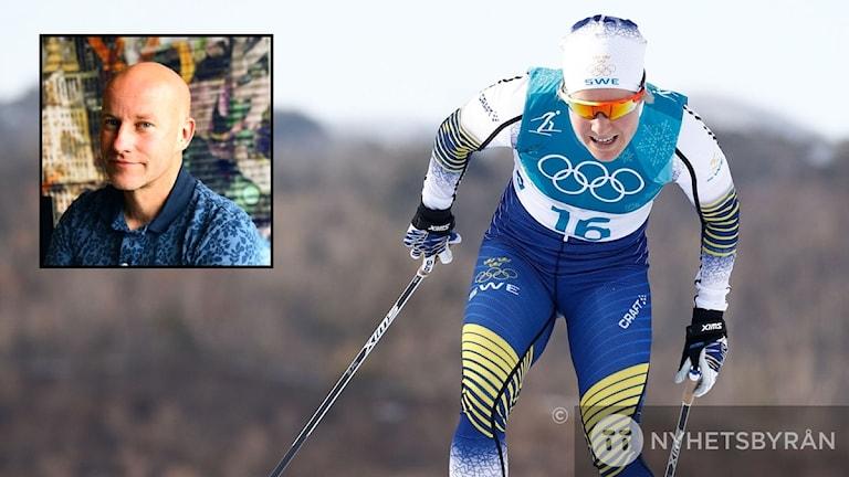 Hanna Falk får inte åka stafett. Tränaren Niclas Grön är besviken.