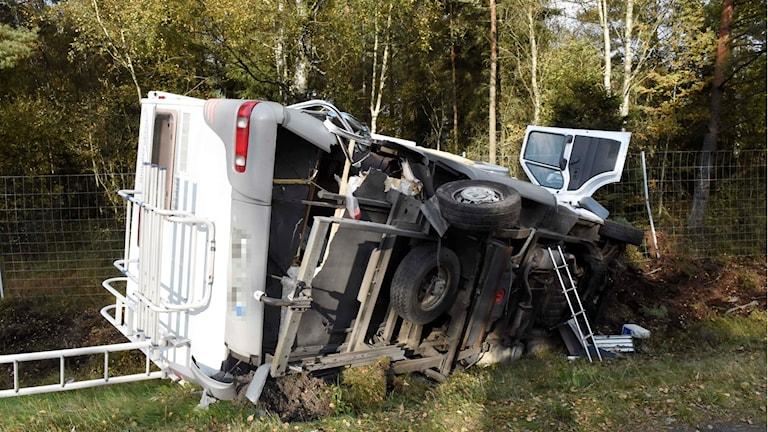 Husbilsolycka på riksväg 27