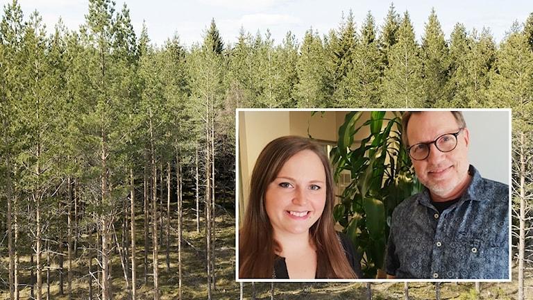 Katrin Magnusson, drönarfotograf och Christer Källén. Skogsstyrelsen.