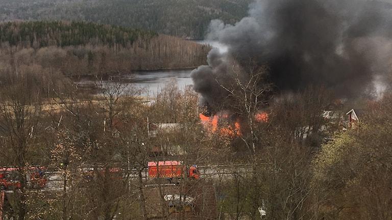 Brand i Frufällan