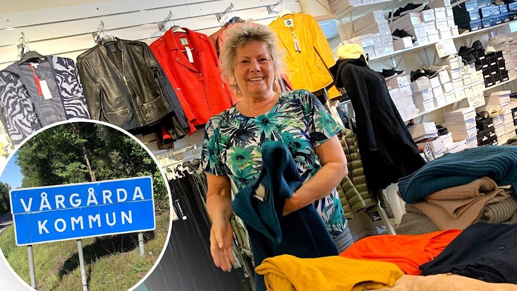 Nina Berg driver en butik i Vårgårda.
