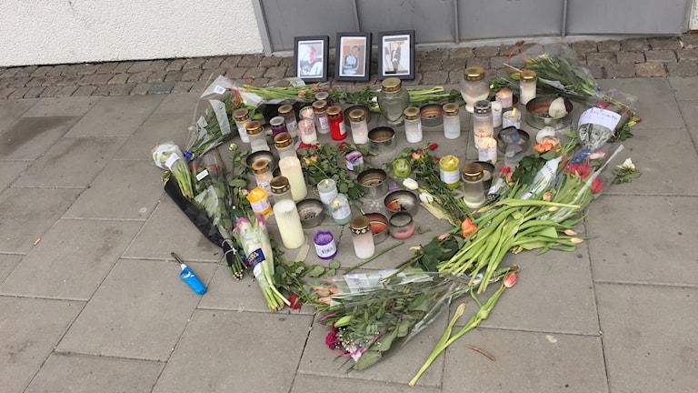 knivmord Hässleholmen Borås blommor och ljus