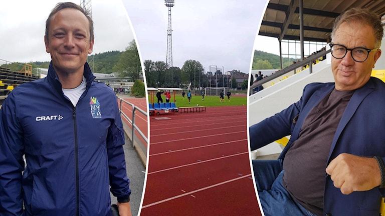 Owen Southgate, NYFA och Tony Lundqvist, sportchef för ungdomsfotbollen i Elfsborg