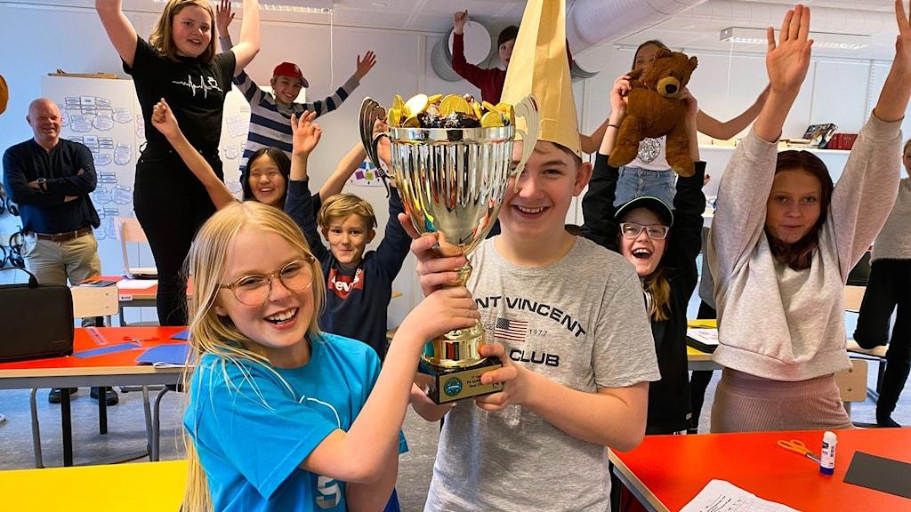 Äsperedskolan 5A, vinnare av Vi i femman 2021.