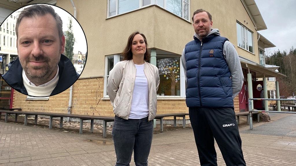Per Carlsson (S) och föräldrarna Lina Ferm och Johan Unnersjö.
