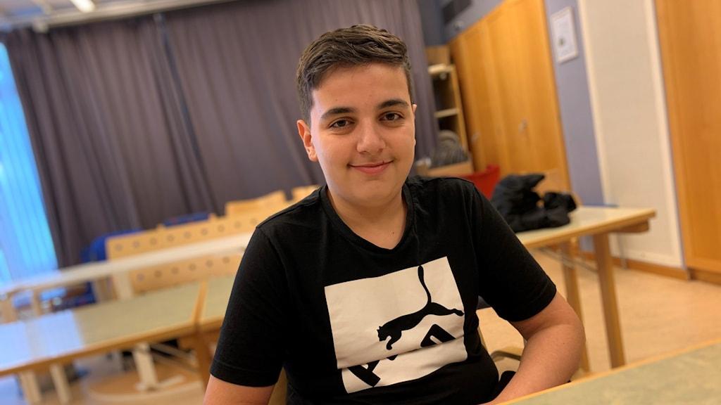 Muhamad Hallak, 13 år, från Vårgårda.