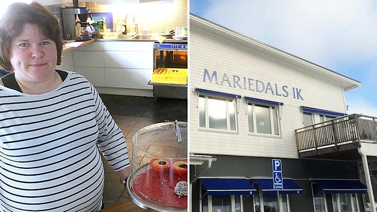Mariedals IK och Anna Karlsson.