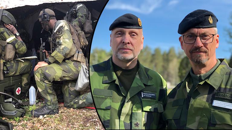 Fredrik Ståhlberg, STF Arméchef och Bengt Alexandersson, chef för Skaraborgs regemente.