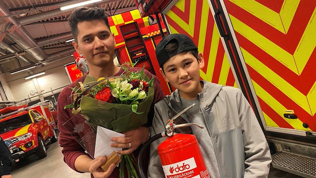Sayad Ahmadi och Mohammad Yaghoubi - hyllade hjältar efter en brand i Olsfors.