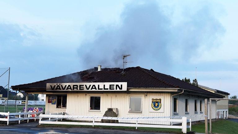 Det brann igen i klubbstugan på Vävarevallen.