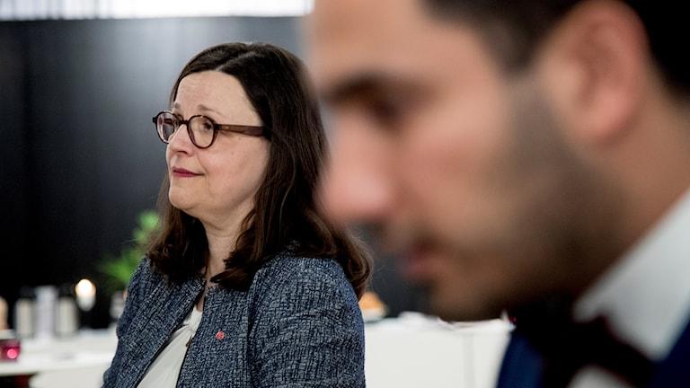 Gymnasieminister Anna Ekström och civlminister Ardalan Shekarabi