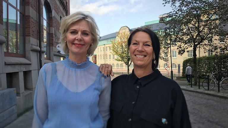 Christina Bergman, grundare av Klimakterieklubben och Helen Högsten från Folkuniversitetet.