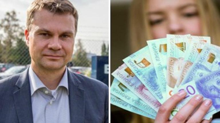 Ulf Olsson och pengasedlar