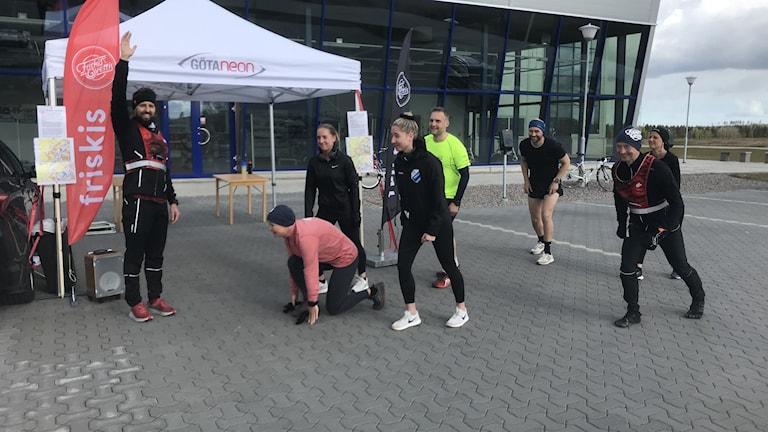 Starten för det alternativa Göteborgsvarvet i Vårgårda.