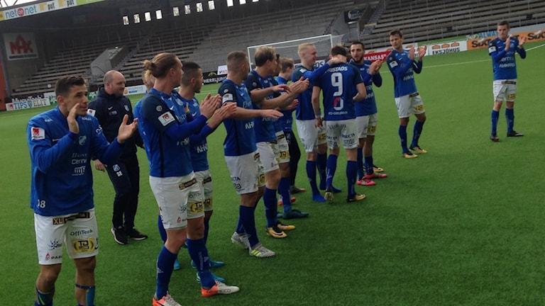 Norrby tackar publiken efter segern mot Degerfors