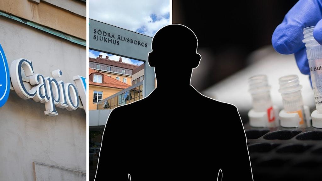 Capio vårdcentral, södra älvsborgs sjukhus och covidtester.