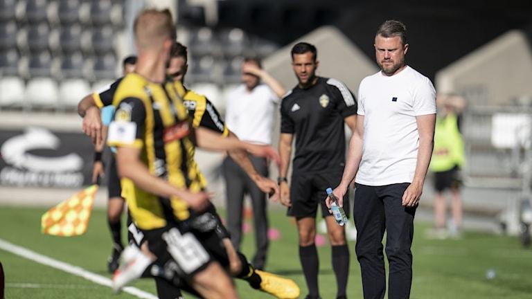 Elfsborgs tränare Jimmy Thelin under kvartsfinalen i Svenska cupen mellan BK Häcken och IF Elfsborg på Bravida Arena.