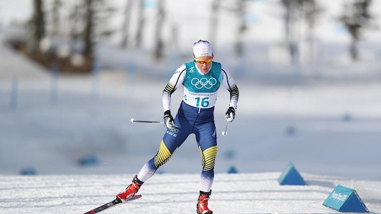 Sveriges Hanna Falk under 10 km fristil.