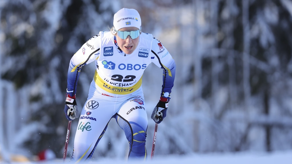 Hanna Falk vid världscupen i Ulricehamn