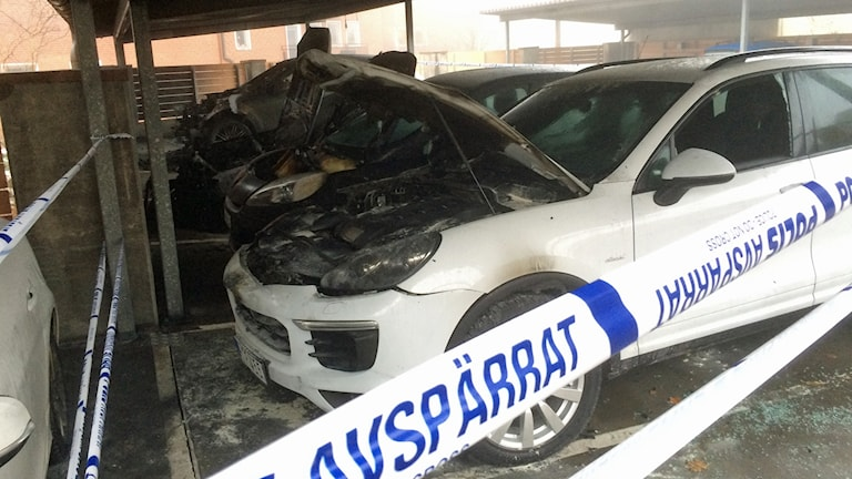 25 bilar skadades i branden på Södra Kyrkogatan i Borås