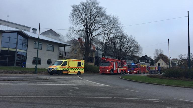 Brand på Trandared i Borås.