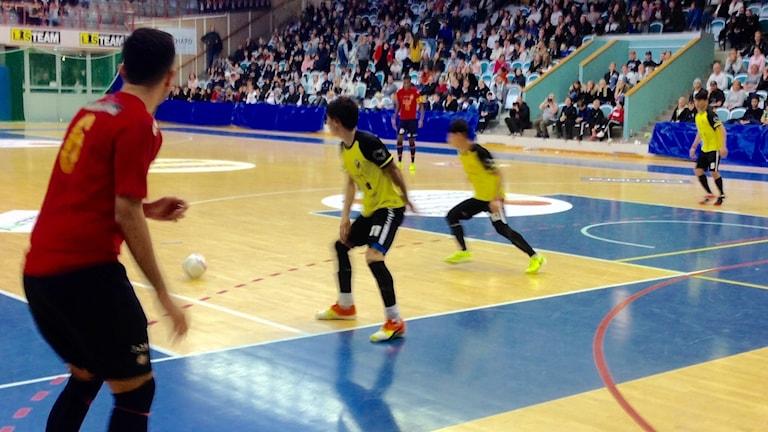 Från finalmatchen i Boråshallen