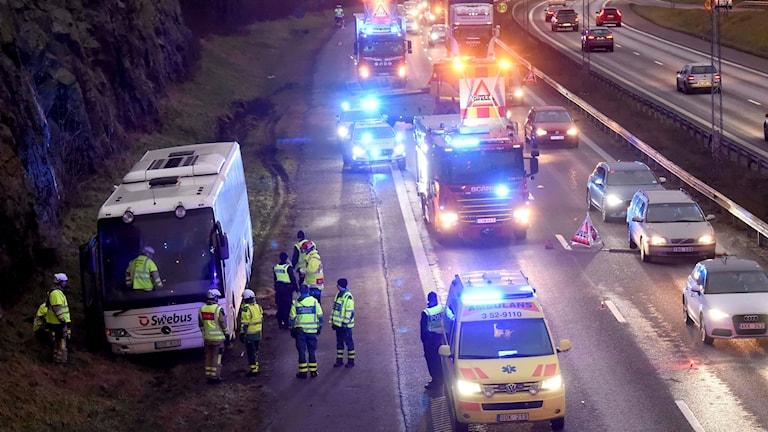 Bild från olycksplatsen