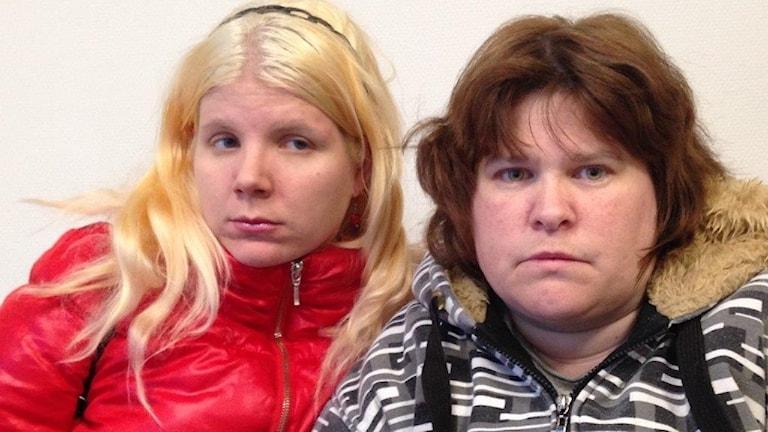 Sarah Tallmyr och Anna Karlsson.