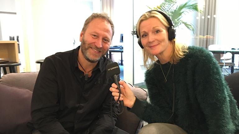 Sören Olsson och Caroline Aronsson.